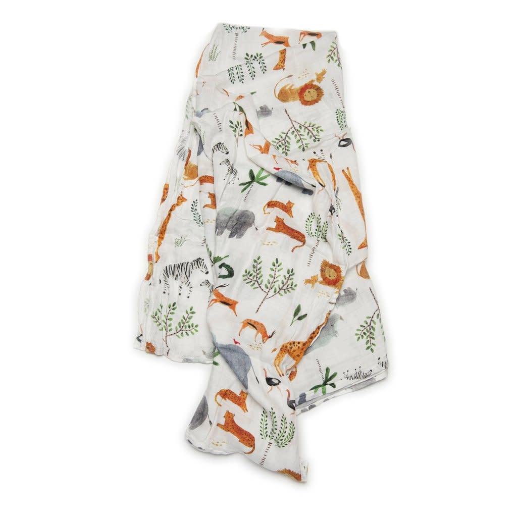 Loulou Lollipop Swaddle Blanket - Safari Jungle