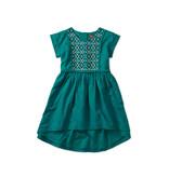 Tea Collection Metallic Embroidered Dress - Tempo Teal