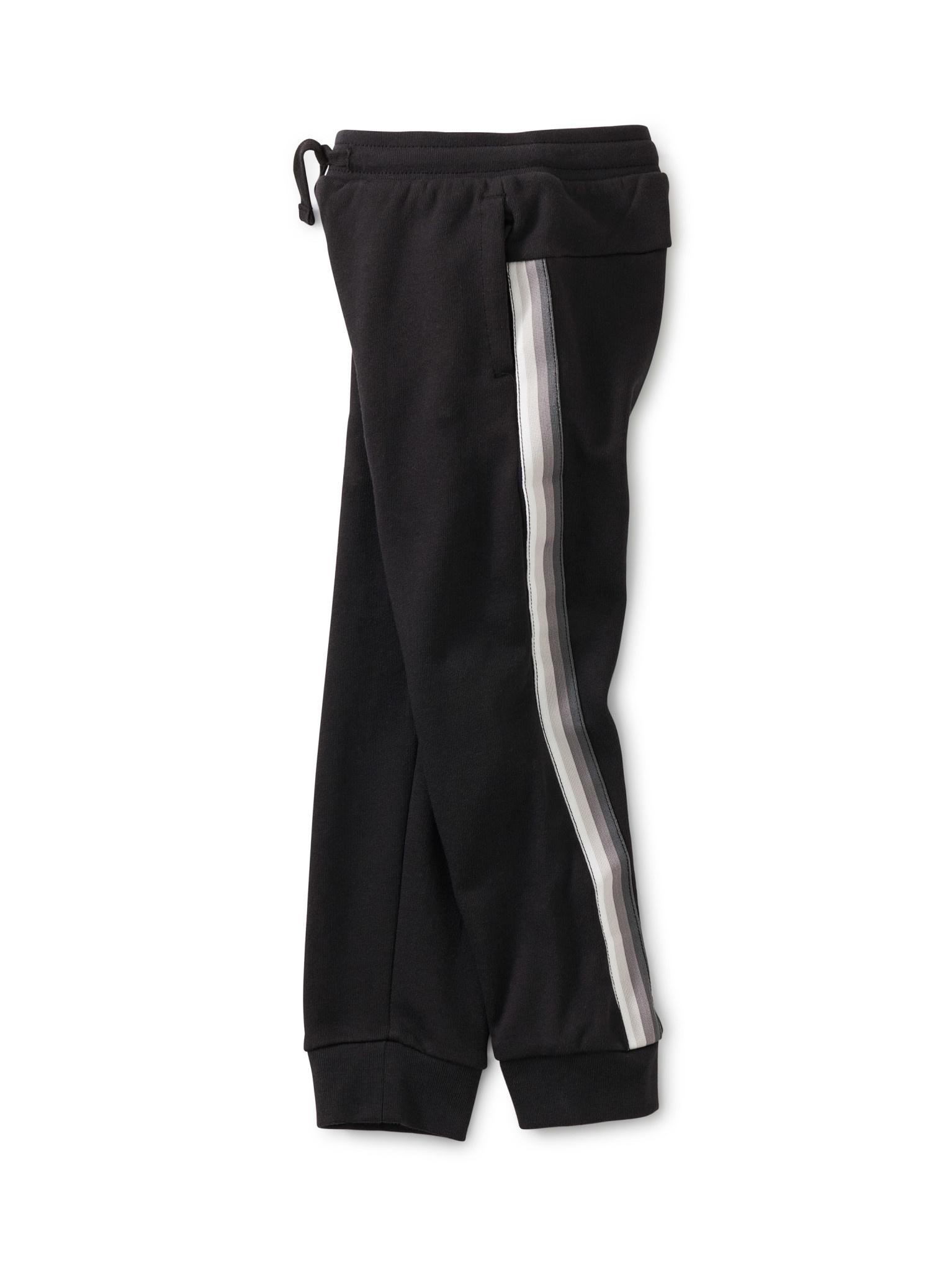 Tea Collection Stripe-Out Jogger - Jet Black