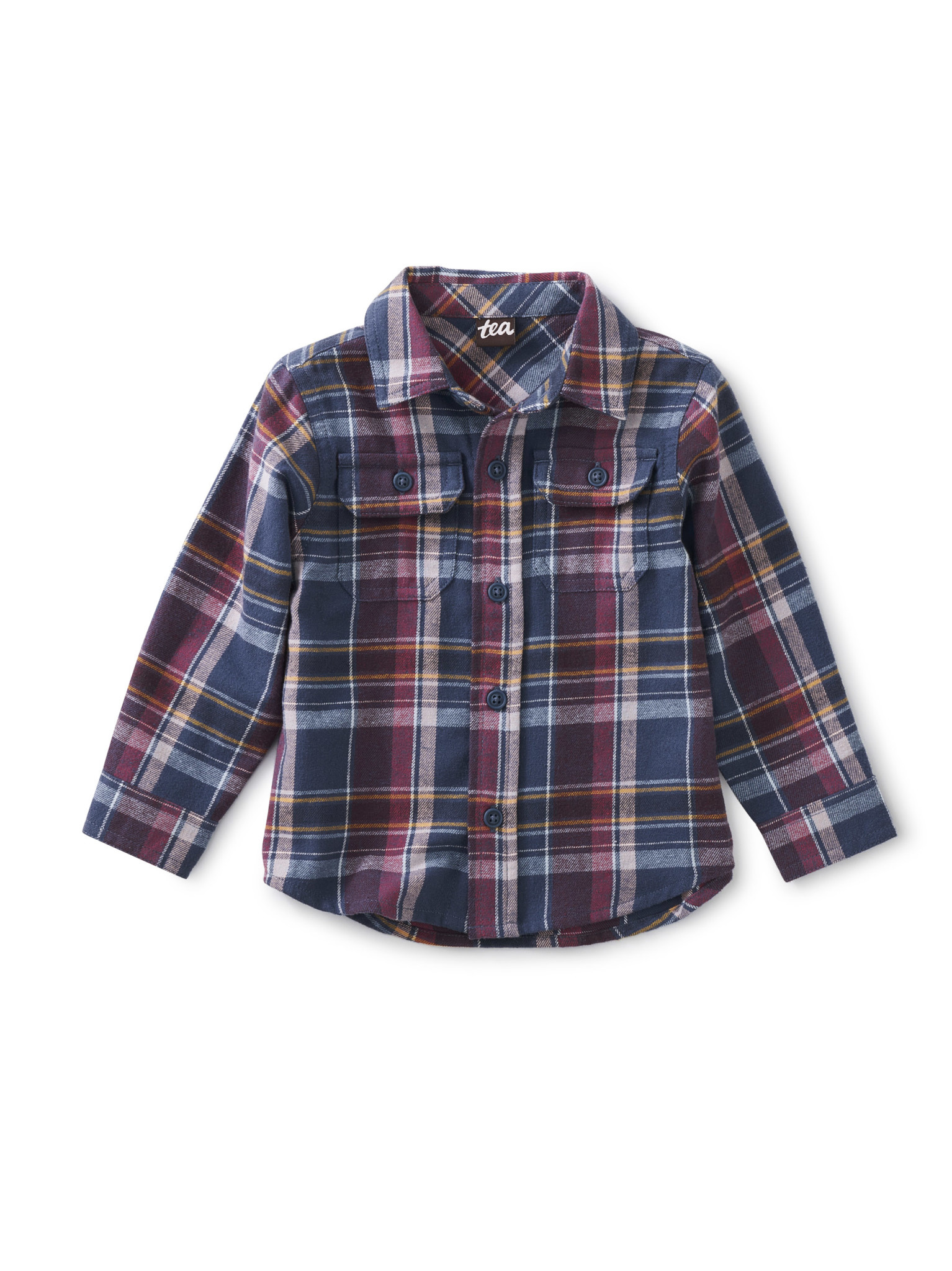 Tea Collection Flannel Button Up Baby Shirt - Halland Plaid