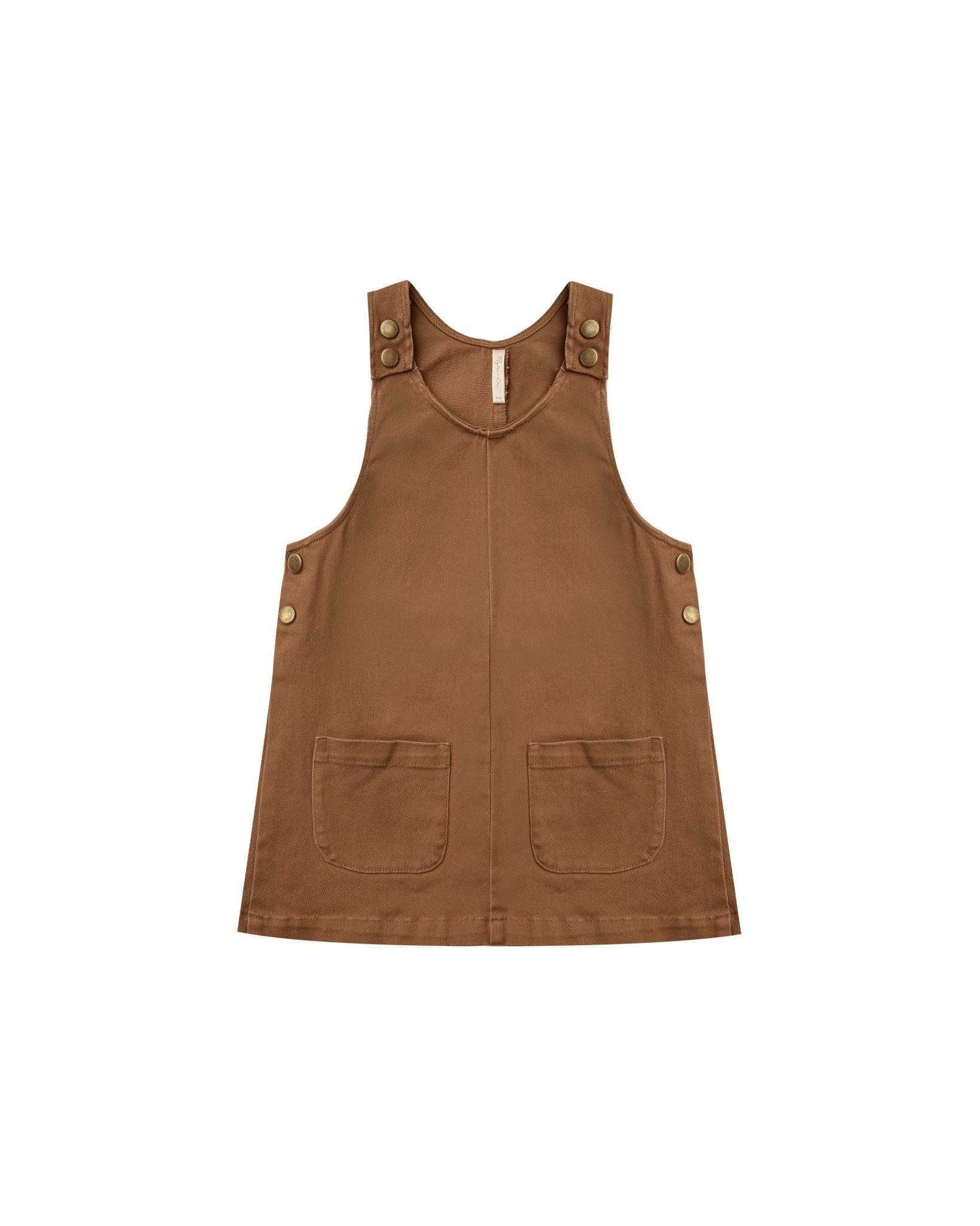 Rylee & Cru Odette Overall Dress - Rust