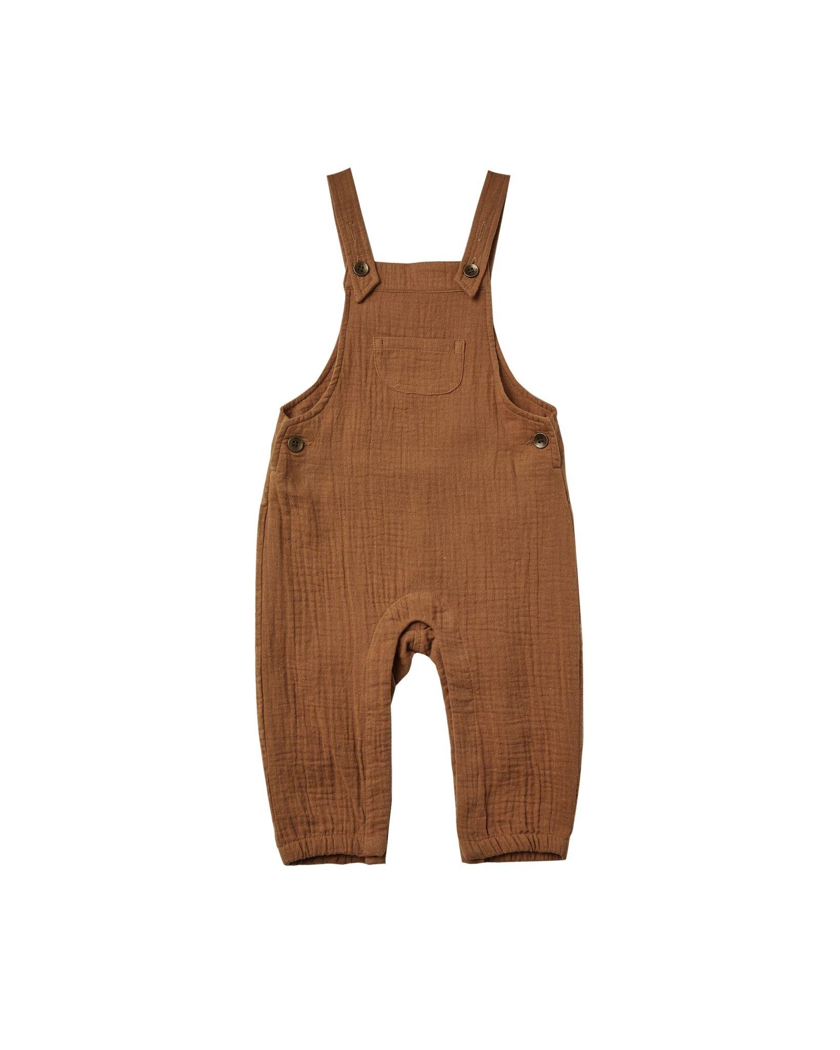 Rylee & Cru Baby Overalls - Rust
