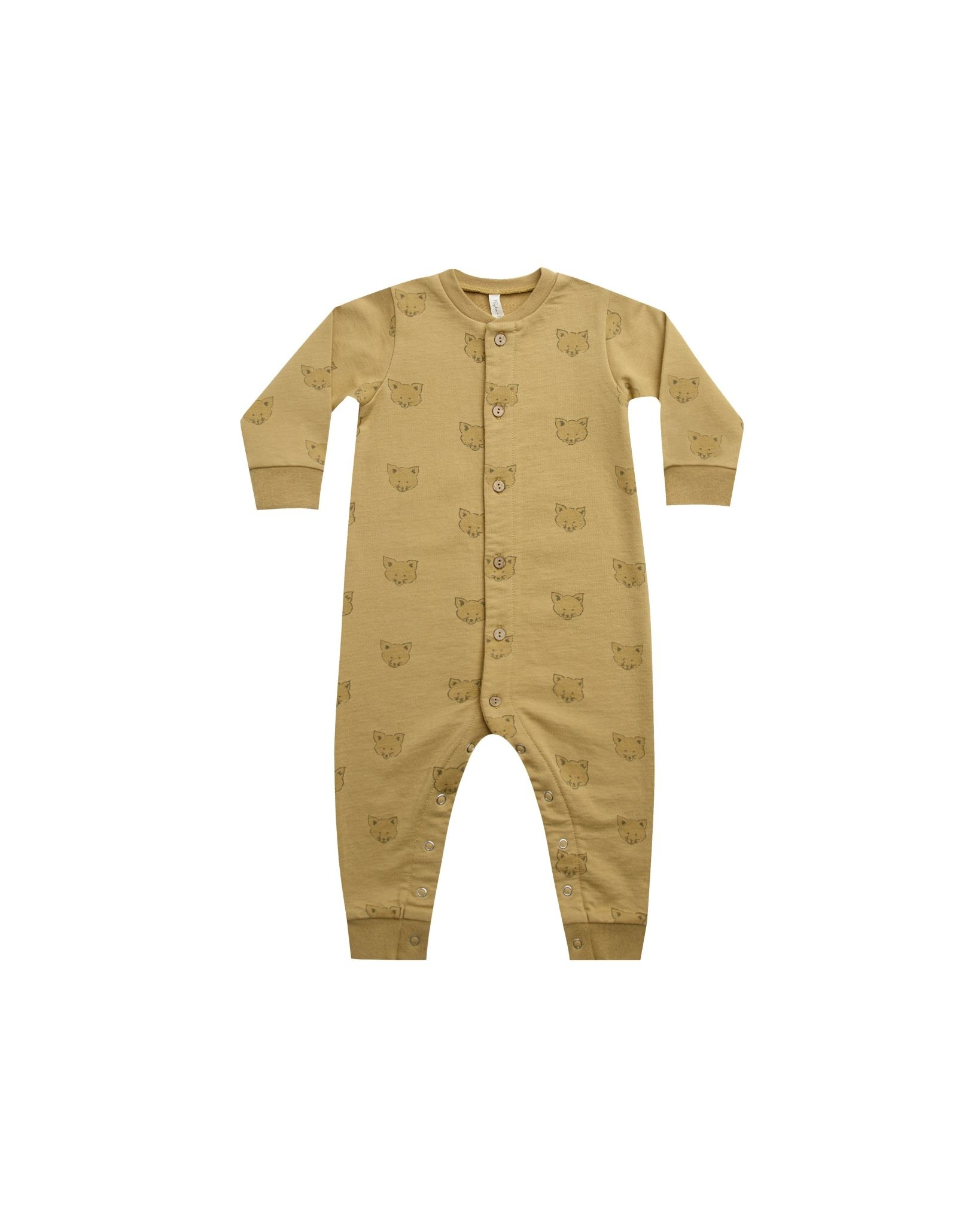Rylee & Cru Button Down Jumpsuit - Coyote