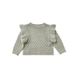 Rylee & Cru La Reina Baby Sweater - Agave