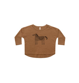 Rylee & Cru Long Sleeve Tee - Horse