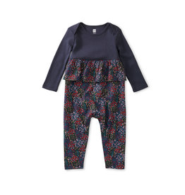 Tea Collection Pretty Peplum Baby Romper - Floral