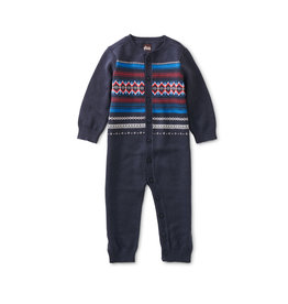 Tea Collection Family Fair Isle Baby Sweater Romper