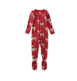 Tea Collection Footed Baby Sleepers - Dressed Up Reindeer