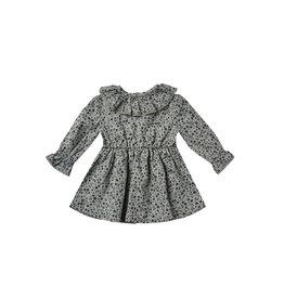 Rylee & Cru Ruffle Collar Indigo Baby Dress