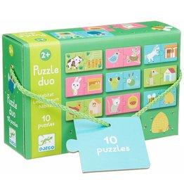 Djeco (Hotaling Imports) Puzzle Duo- Habitat