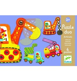 Djeco (Hotaling Imports) Puzzle Duo- Vehicles
