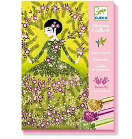 Djeco (Hotaling Imports) Glitter Boards - Glitter Dresses