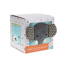 Petit Collage Fabric Activity Block - Elephant