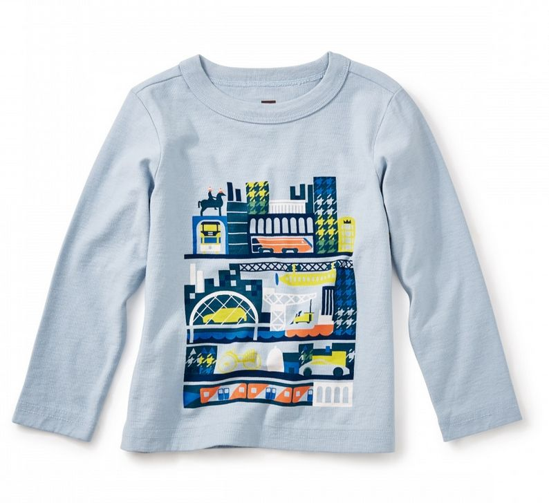 Tea Collection Glasgow Tour Graphic Baby Tee