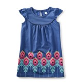 Tea Collection Feather Graphic Dress
