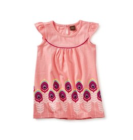 Tea Collection Feather Graphic Baby Dress