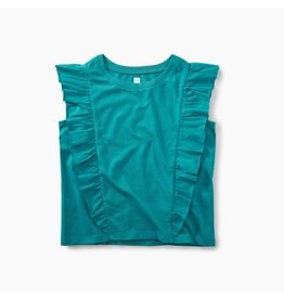 Tea Collection Mermaid Ruffle Knit Top