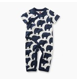 Tea Collection Black Bears Romper