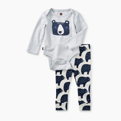 Tea Collection Sterling 2-Piece Bodysuit Baby Outfit
