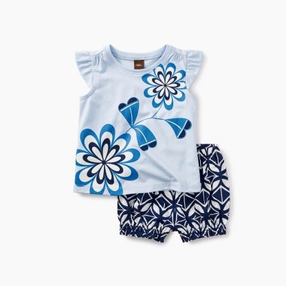 Tea Collection Blooming Florals Baby Outfit