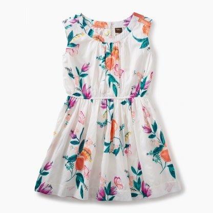 Tea Collection Peach Flower Dress