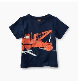Tea Collection Tow Truck Baby Tee
