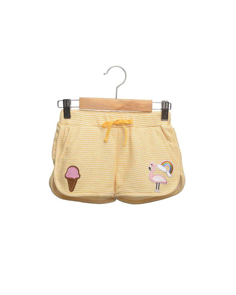 Siaomimi Yellow Stripe Gym Shorts