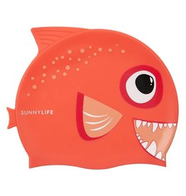 Sunnylife Fishy Swim Cap - Red