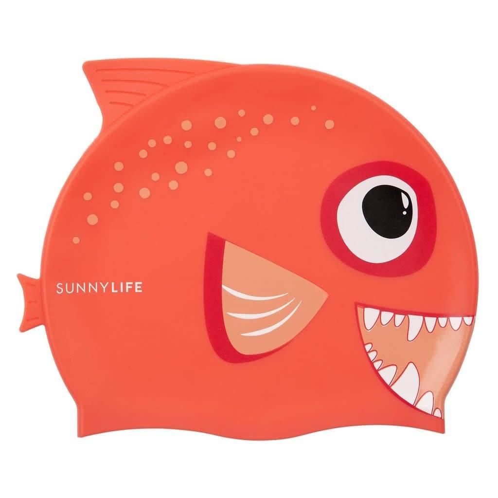 Sunnylife Fishy Swim Cap - Red