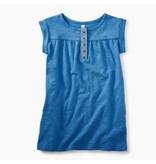 Tea Collection Atlas Blue Placket Trim Dress