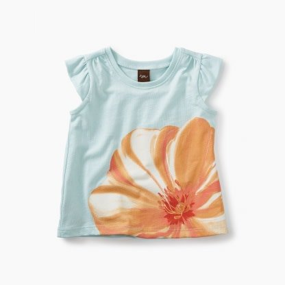 57efe35b1f3d Tea Collection Large Flower Graphic Baby Tee