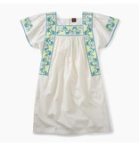 Tea Collection Floral Embroidery Dress