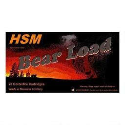 HSM HSM Bear Load Ammunition .500 S&W 440 Grain Lead Flat Nose (20-Rounds)