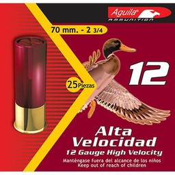"Aguila Aguila High Velocity Shotgun Shells 12 Gauge 2 3/4"" Shot #2 1 1/4oz."