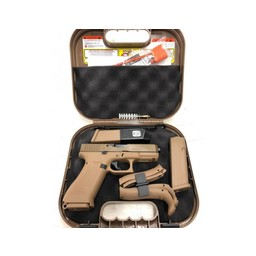 Glock 19x 9mm 3 Magazines Night Sights Coyote Brown Finish
