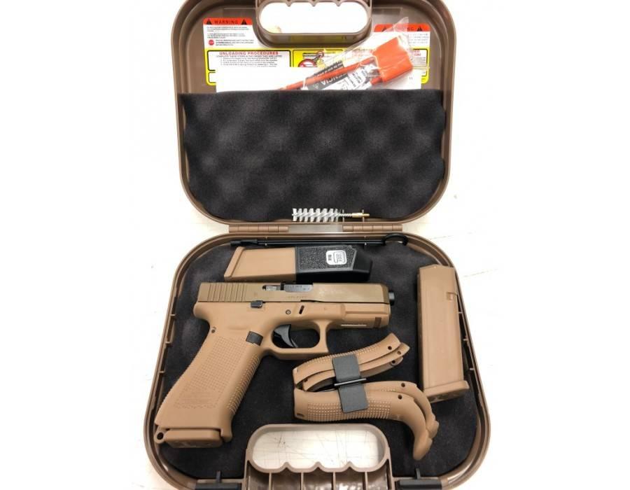 Glock 19x 9mm 3 Magazines Night Sights Coyote Brown Finish