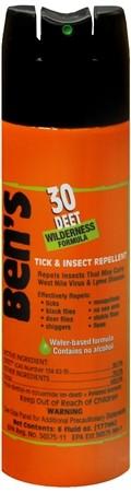 Ben's 30 Deet Wilderness Insect / Tick 177ml Aerosol Spray