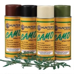 Hunters Specialties Camo Spray Paint Kit w/ Leaf Stencil