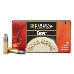 Federal Premium Federal Premium Gold Medal .22LR Target 40 Grain Solid (50-Rounds)