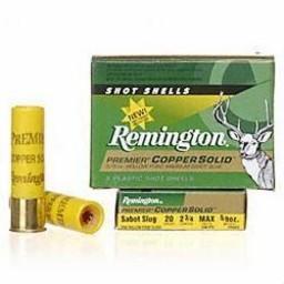 """Remington Remington Premier Copper Solid 20 Gauge 2 3/4"""" 5/8oz. (5-Rounds)"""