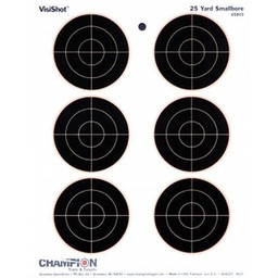 Champion VisiShot 25 Yard Smallbore Sight-In Targets (10-Pack)