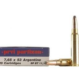 PPU PPU Rifle Line Ammunition 7.65x53 Argentine 180 Grain SP BT (20-Rounds)