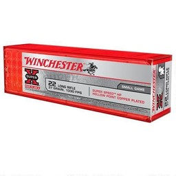 Winchester Super-X .22LR 37 Grain 1330 FPS Copper Plated Hollow Point (100-Rounds)