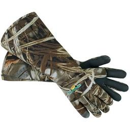 Flambeau Outdoors Flambeau Neoprene Gauntlet Elbow Length Decoy Gloves Max-4 Camo