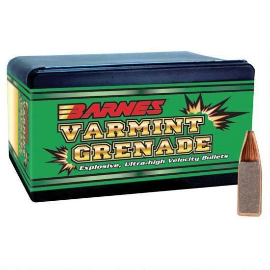 """Barnes Varmint .22 Cal. .224"""" 36 Grain HP FB (100-Count)"""