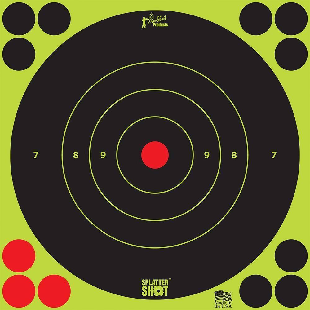 "Pro Shot Products Pro-Shot 12"" Green Bullseye Splatter Target (5-Pack)"