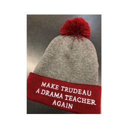 "TurtleTop Apparel Toque ""Make Trudeau A Drama Teacher Again"""