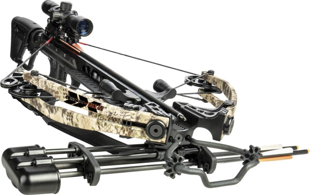 Bear Saga 370LS Crossbow Package 370 FPS Camo Limbs