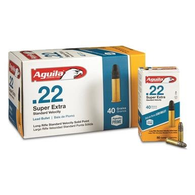 Aguila Aguila .22LR SuperExtra Lead Round Nose (500-Rounds)