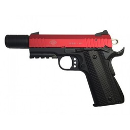 GSG 922 .22LR 1911 Style Bright Red Slide and Carbon Grips